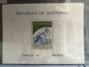 Guatemala Apollo X1 1969  imperf  mint never hinged  stamp sheet   R26811