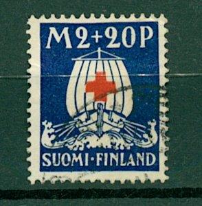 Finland 1930 Red Cross Fund 2m+20p red and blue sg280 cv£60 (1v) VFU Stamp