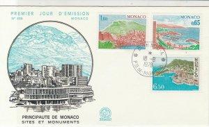 Monaco 1978 Principality of Monaco Monuments Sites FDC Stamps Cover Ref 26450