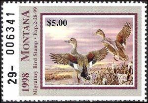 MT46 Mint,OG,NH... State Duck Stamp.. SCV $7.00