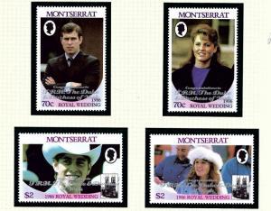 Montserrat 628a-29b MNH 1986 Overprints (Singles)