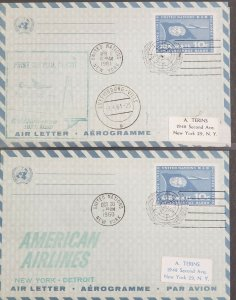 United Nations 1960-61 First Flight Aerogrammes