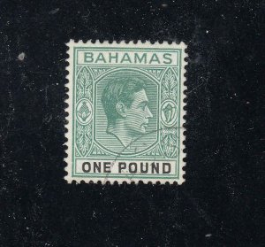 BAHAMAS SG157a VF-KGV1 £1 FROM THE HILLSON COLLECTION CAT VALUE £55 or $68+