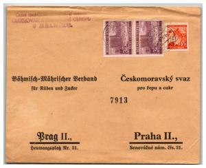 Bohemia Moravia 1941 Cover / Melniku CDS / Top Creasing - Z13842