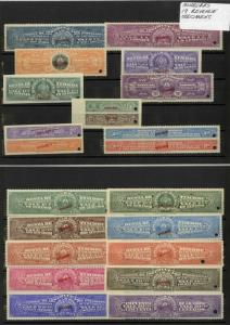 Honduras Stamps Collection Of 19 Early Revenue Specimens