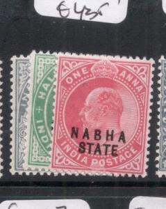 India Nabha SG 37, 38-9 MOG (8dmf)