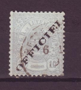 J10930 Jlstamps [low price] 1875-6 luxembourg used #015 perf 13 official ovpt