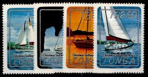 TONGA QEII SG857-860, 1983 Christmas Yachting off Vava'u set, NH MINT.