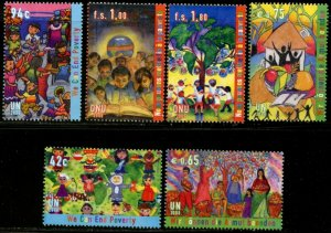 UNITED NATIONS Sc# NY 966-7 GE 490-1 VI 432-3  2008 We Can End Poverty MNH