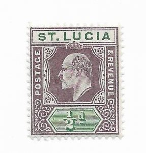 St. Lucia #43 MH - Stamp - CAT VALUE $4.50