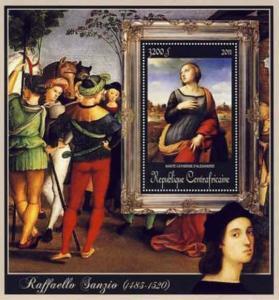 Central Africa - Raphael, Catherine - Souvenir Sheet - 3H-072