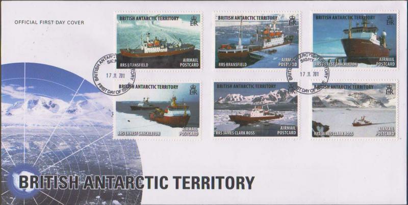British Antarctic Territory Scott C5-C10 Unaddressed.
