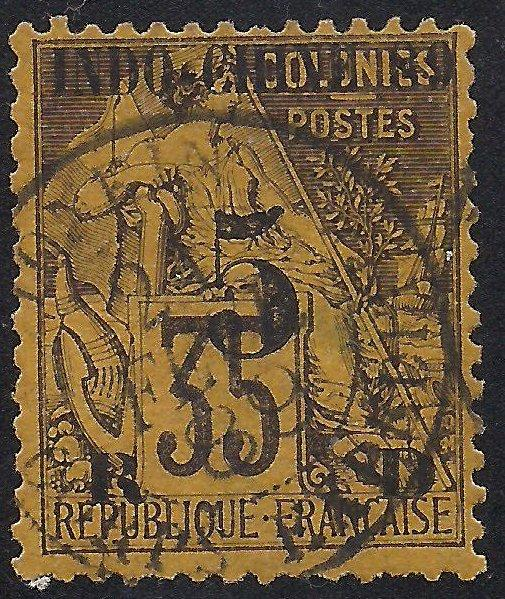Indo-China 1 Used F-VF sm thin