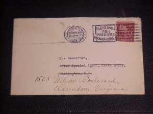 1927 COVER TO CHIEF SPECIAL AGENT (ROBERT) BANNERMAN STATE DEPT.