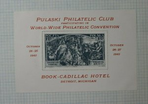 Pulaski Club WW Convention 1940 278 283 MI Stamp 1.20 Philatelic Souvenir Ad