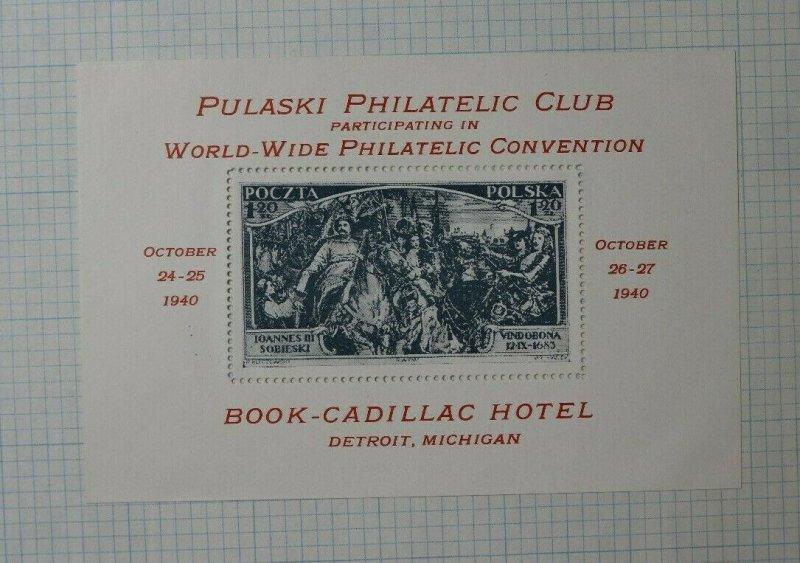 Pulaski Club WW Convention 1940 278 283 MI Stamp 1.20 Philatelic Souvenir Ad