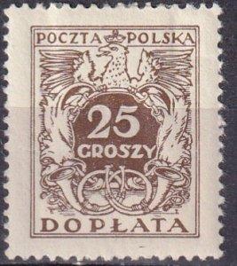 Poland #J75 Unused CV $6.25  (Z3221)