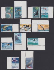 Australian Ant. Terr. Antarctic Birds and Fauna 12v with margins SG#23-34