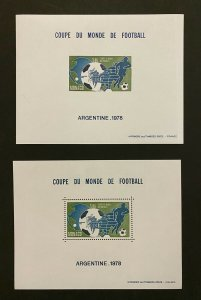 Monaco Stamps Block Special N 10 & 10a soccer world cup Argentina 1978/ football
