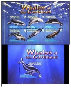 Grenada Grenadines 2010 marine life fish whales klb+s/s MNH