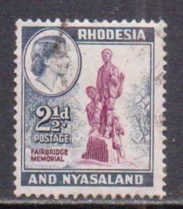 Rhodesia & Nyasaland  #161  used  (1959)  c.v. $0.90