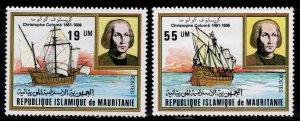 Mauritania Scott 491-492 MNH** Christopher Columbus stamp set