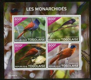 TOGO 2019 BIRDS: MONARCHS SHEET MINT NEVER HINGED