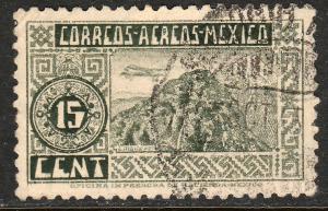 MEXICO C67, 15c ORIZABA VOLCANO. USED. VF. (554)