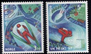 Norway Scott 1153-1154 MNH**  Nordic Skiing set