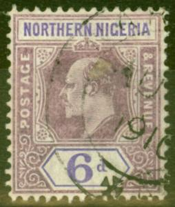 Northern Nigeria 1906 6d Dull Purple & Violet SG25a Chalk Paper Fine Used