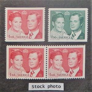 Sweden 1163-65. 1976 Royal Wedding, NH
