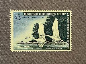 RW33, Whistling Swan, Mint OGNH, CV $145
