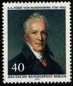 GERMANY BERLIN 1972 150th DEATH ANNI HARDENBERG MINT (NH) SG B429 P.14 SUPERB