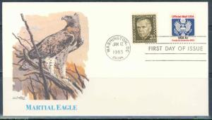 UNITED STATES 4c  OFFICIAL STAMPS ON FLEETWOOD  FIRST DAY COVER