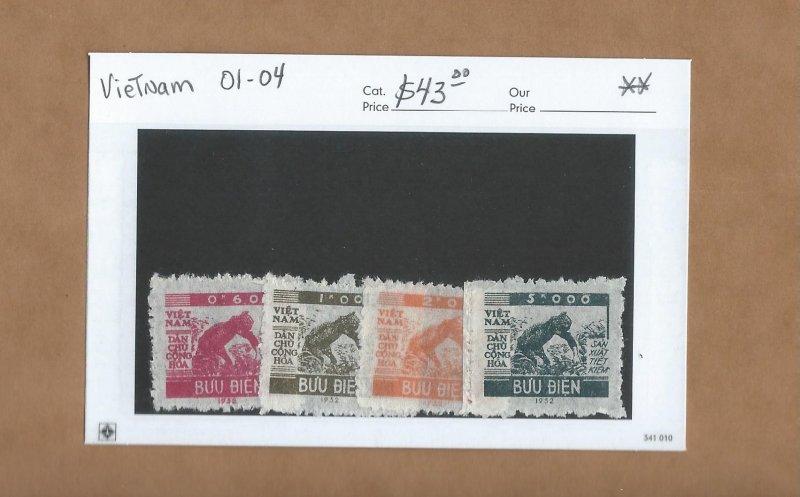 Vietnam - Scott  O1-O4   MNH