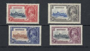Montserrat KGV 1935 Silver Jubilee Set SG94/97 MH J5330