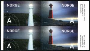 Norway 1442-1443a Booklet pane, MNH. Lighthouses: Jomfruland, Tranoy, 2005