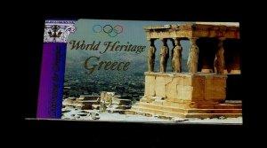 U.N. 2004, NEW YORK #868, WORLD HERITAGE, GREECE, MNH, PRESTIGE BOOKLET, LQQK