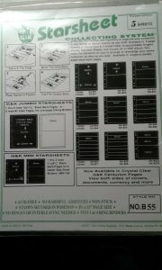 G&K Starsheet 2 sided Black Stockpages with 5 pockets --new/sealed package of 5