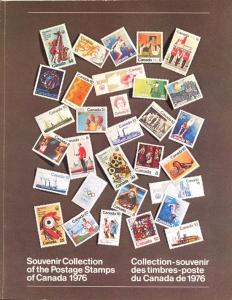 Canada Annual Souvenir Collection The Postage Stamps of 1976 Mint VF-NH