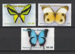Papua New Guinea MNH 1136-8 Butterflies Insects