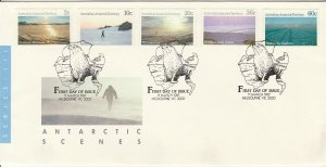 AUSTRALIAN ANTARTIC TERRITORY L60//L70. FDC 5 VALUES ISSUED THAT DAY. VF. (316)
