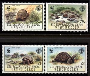 Seychelles Zil Elwannyen  Sesel Scott 1131-134 TURTLES Mint Never Hinged