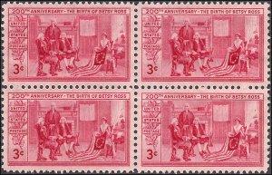 1004 Mint,OG,NH... Block of 4... SCV $1.00