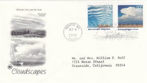 2004, Cloudscapes-Altocumulus Undulatus, Cumulonimbus Incus, PCS, FDC (E9226)