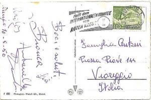 14971 - MEDICINE - RED CROSS: postmark on card SWITZERLAND 1950