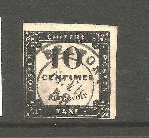 FRANCE  1859   10c  POSTAGE DUE FU SG D86