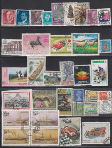 LOT OF DIFFERENT STAMPS OF THE WORLD USED (34) LOT#100