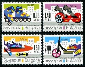 HERRICKSTAMP NEW ISSUES BULGARIA Sc.# 4829-32 Transportation (Scooter, Skates)