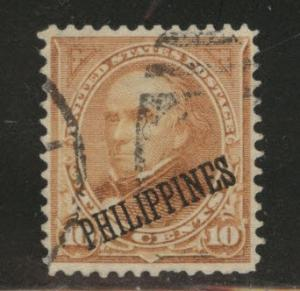 Philippines on US Scott 217 used type 2